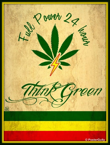 PosterGully Specials, Weed | Full Power, - PosterGully