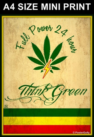Mini Prints, Weed | Full Power | Mini Print, - PosterGully