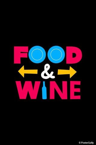 Brand New Designs, Food And Wine Typography, - PosterGully - 1