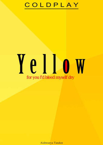 Brand New Designs, Yellow Coldplay Artwork | Artist: Aishwarya Tandon, - PosterGully