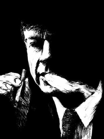 Wall Art, Cigarette Smoking Man  | Artist: Karthik Abhiram, - PosterGully