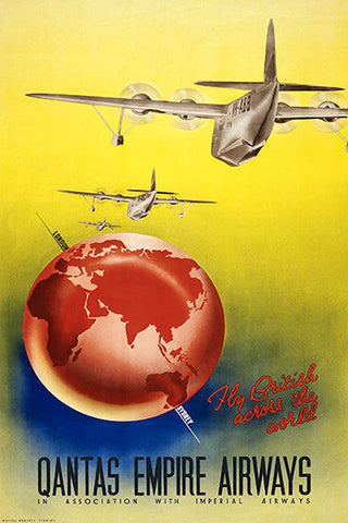 Wall Art, Qantas Empire Airways, - PosterGully