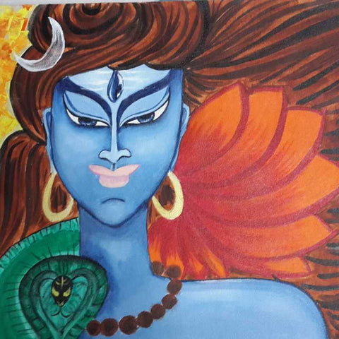 Square Art Prints, Lord Shiva Artwork | Artist: Vikram Singh, - PosterGully