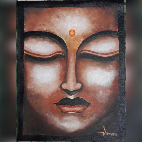 Square Art Prints, Lord Buddha 1 Artwork | Artist: Vikram Singh, - PosterGully