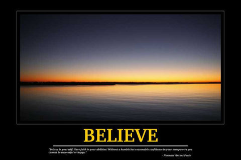 Believe Motivational |  PosterGully Specials