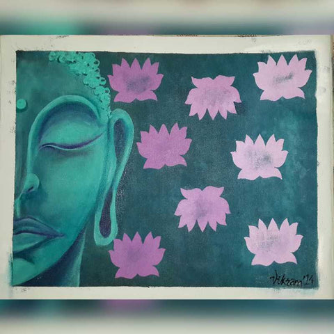 Square Art Prints, Buddha Artwork | Artist: Vikram Singh, - PosterGully
