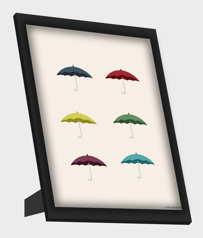 Framed Art, Umbrella Minimal Framed Art, - PosterGully