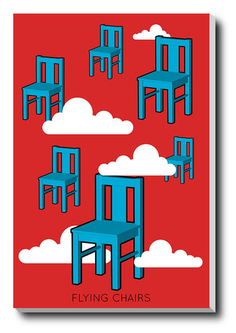 Canvas Art Prints, Flying Chairs Stretched Canvas Print, - PosterGully - 1
