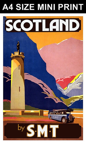 Mini Prints, Scotland SMT | Mini Print, - PosterGully