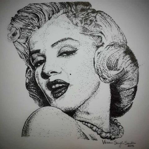 Square Art Prints, marilyn monroe 1 Artwork | Artist: Vikram Singh, - PosterGully