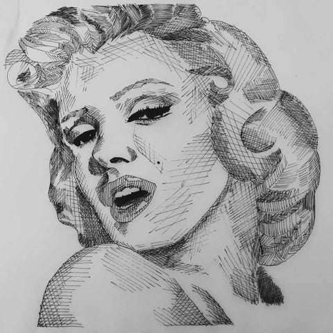 Square Art Prints, marilyn monroe 2 Artwork | Artist: Vikram Singh, - PosterGully