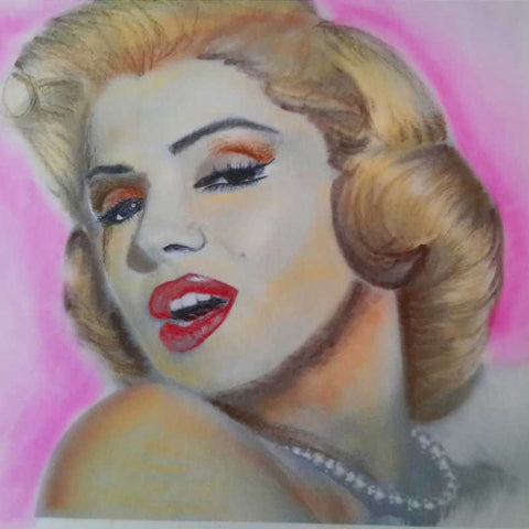 Square Art Prints, Marilyn Monroe 3 Artwork | Artist: Vikram Singh, - PosterGully