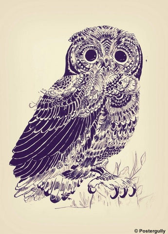 Wall Art, The Owl Sketch by Sherry, - PosterGully