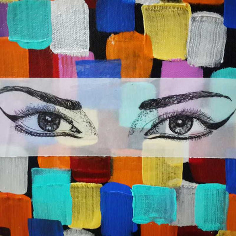 Square Art Prints, Eyes Artwrok  | Artist: Vikram Singh, - PosterGully