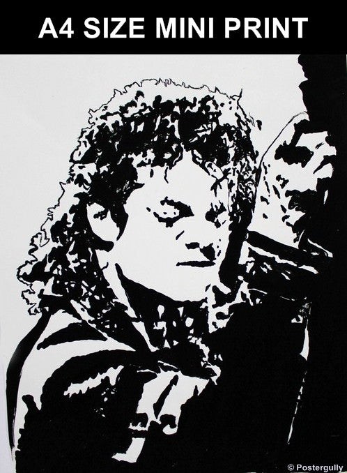 Buy wall decor posters merchandise online shopping india michael jackson black artwork mini print postergully