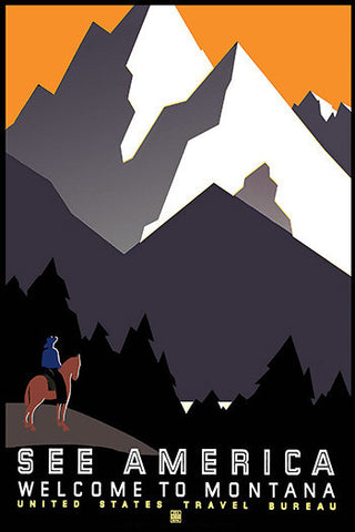 Wall Art, Welcome To Montana Mountain, - PosterGully
