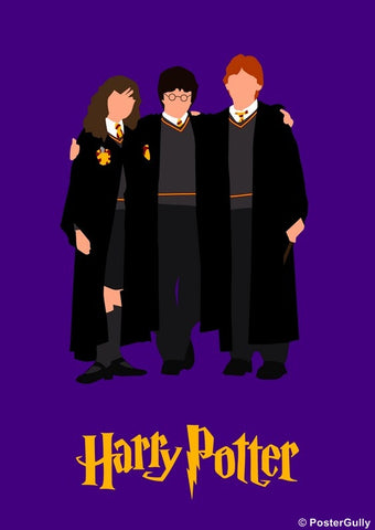 PosterGully Specials, Harry Potter Trio Minimal, - PosterGully