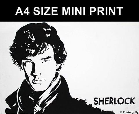 Mini Prints, Sherlock Black Sketch | Mini Print, - PosterGully