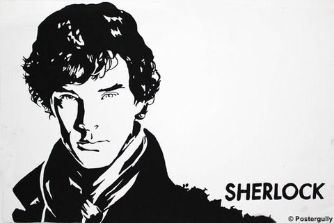 Wall Art, Sherlock Black Sketch, - PosterGully