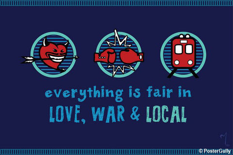Wall Art, Love War & Local Artwork | Artist: MyArtini Bar, - PosterGully - 1