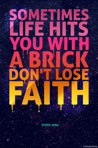 Wall Art, Life Hits Brick | Steve Jobs, - PosterGully