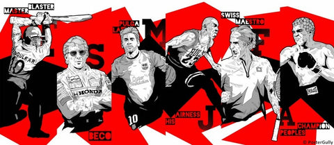 PosterGully Specials, Sports Legends | Red & Black, - PosterGully