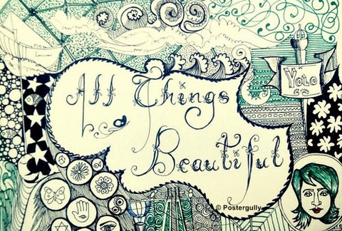 Wall Art, All Things Beautiful Pencil Art, - PosterGully