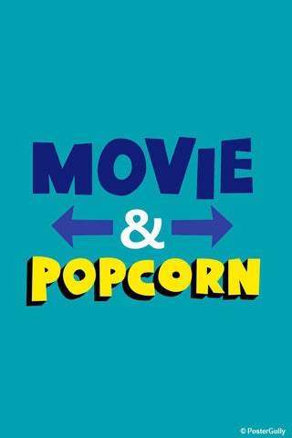 Brand New Designs, Movie And Pop Corn Typography, - PosterGully - 1