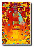 Canvas Art Prints, Grunge Guitar Stretched Canvas Print, - PosterGully - 1