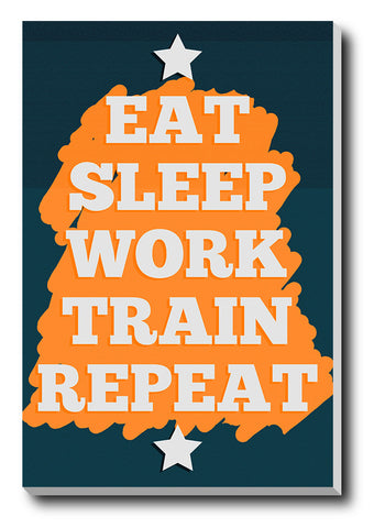 Canvas Art Prints, Gym Routine Stretched Canvas Print, - PosterGully - 1