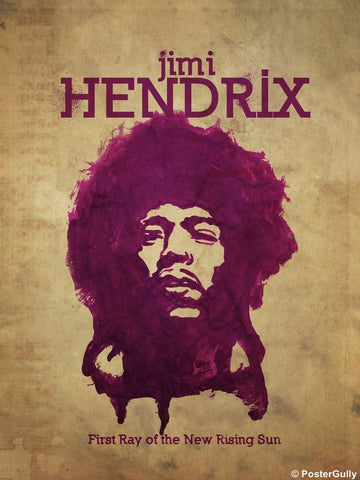 Wall Art, Jimi Hendrix Purple Minimal Art, - PosterGully