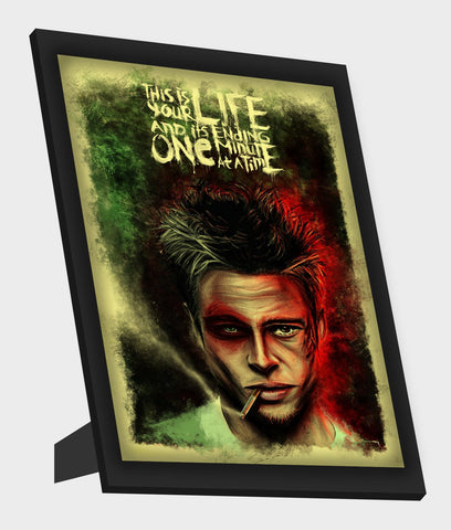 Framed Art, Fight Club | Brad Pitt Framed Art, - PosterGully