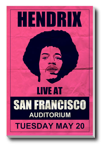 Canvas Art Prints, Jimi Hendrix Stretched Canvas Print, - PosterGully - 1