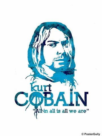Wall Art, Kurt Cobain Minimal Artwork, - PosterGully