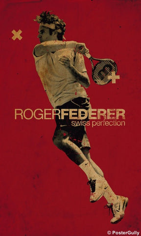 Wall Art, Roger Federer Artwork, - PosterGully
