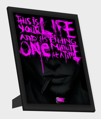 Framed Art, Fight Club Black & Purple Framed Art, - PosterGully