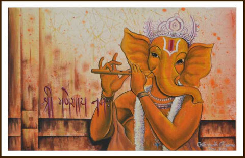 Wall Art, Immortal Ganesha Artwork | Artist: Anirudh Khanna, - PosterGully