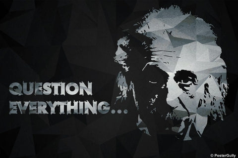 Wall Art, Einstein | Question Everything, - PosterGully