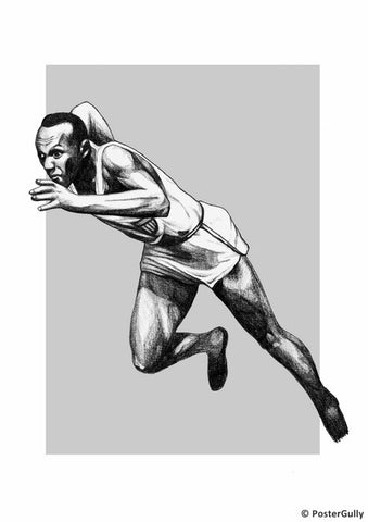 Wall Art, Jesse Owens Artwork, - PosterGully