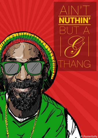 Wall Art, Snoop Dogg | Aint Nuthin Artwork, - PosterGully