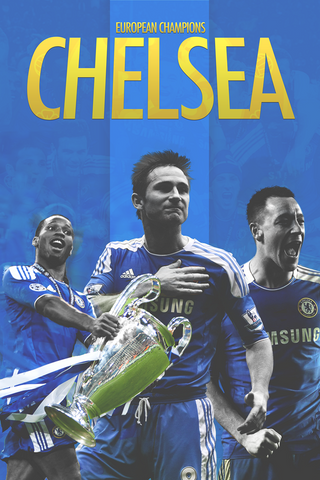PosterGully Specials, European Champions Chelsea, - PosterGully