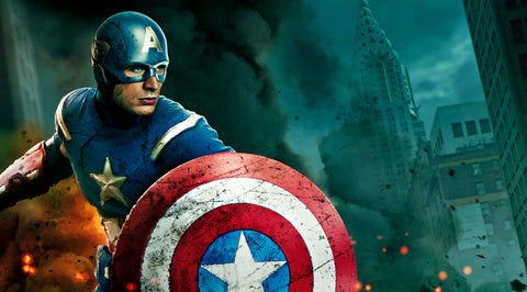 PosterGully Specials, Captain America Blue, - PosterGully