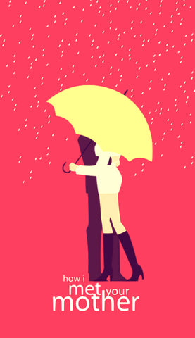 PosterGully Specials, Girl With Yellow Umbrella | HIMYM, - PosterGully