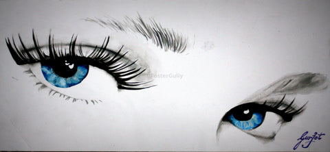 PosterGully Specials, Staring Eyes | Sketch, - PosterGully