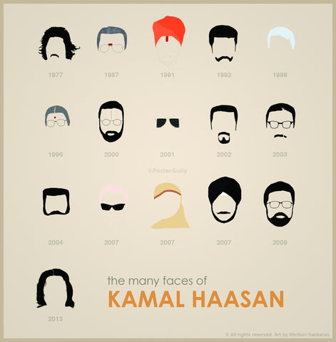 PosterGully Specials, Kamal Haasan Faces, - PosterGully