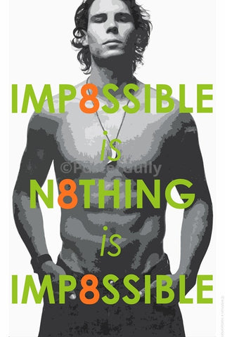 Wall Art, Rafael Nadal | Impossible Is Nothing, - PosterGully