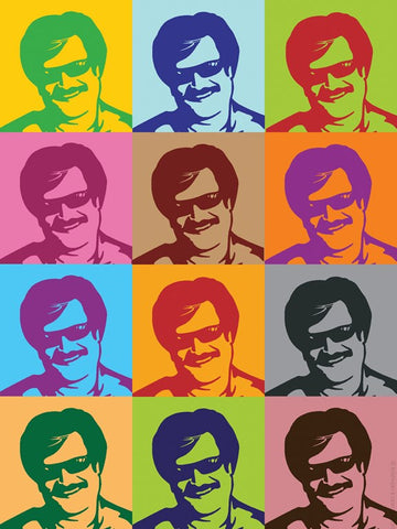 PosterGully Specials, Rajnikanth Artwork, - PosterGully