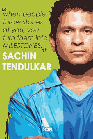 PosterGully Specials, Sachin Tendulkar Inspiring Art, - PosterGully