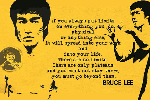 PosterGully Specials, Bruce Lee Quote | Cross The Limits, - PosterGully
