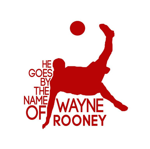 PosterGully Specials, Wayne Rooney Minimal Red Art, - PosterGully